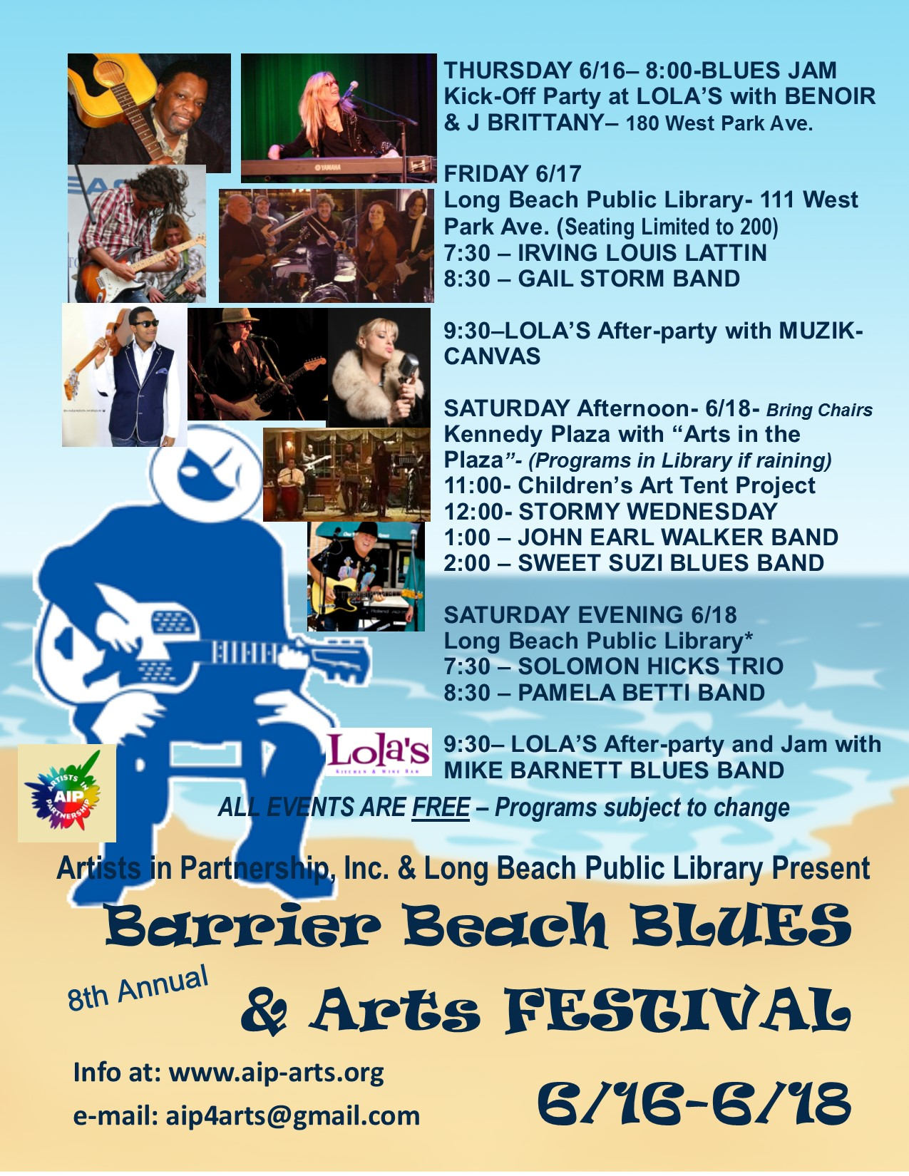 2016 Blues and Arts Festival flyer