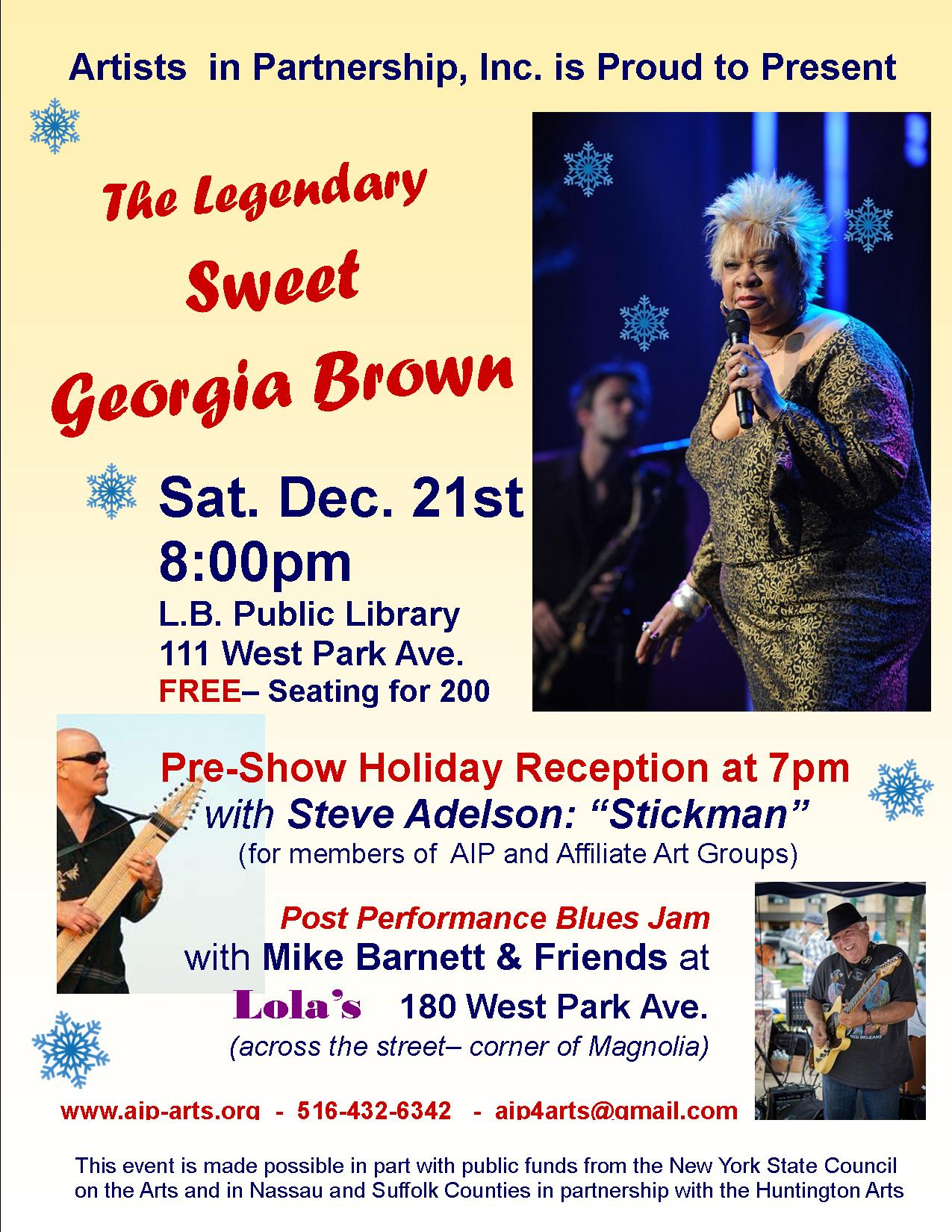 Sweet Georgia Brown event